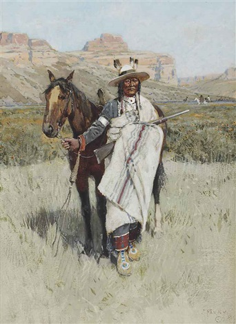 indian scout by henry f farny