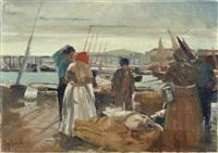 mercanti a venezia by eugenio scorzelli