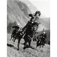 kirghiz horsewoman by max vladimirovitch alpert