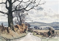 view from fox hill, west petworth, sussex by claude muncaster