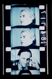 self-portrait with andy (from film the life of andy warhol) by jonas mekas