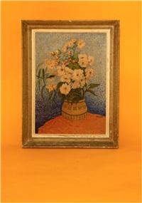 nature morte au bouquet de fleur by elisée maclet