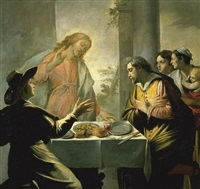 the supper at emmaus by mathieu (le chevalier) le nain