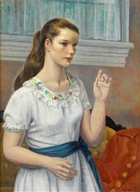 portrait of a girl by leon kroll