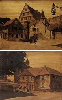 village d'andlau (+ village de birkenwald; 2 works) by charles spindler