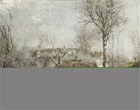 paysage by justin (joseph marie j.) gabriel