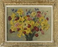 jonquilles et renoncules en bouquet by julio eduardo fossa-calderon