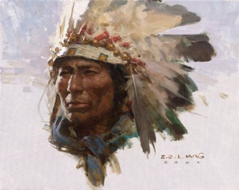 cheyenne warrior by zs liang