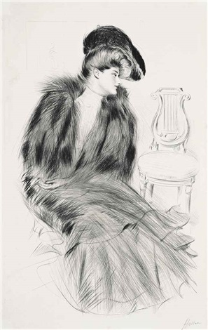 élégante assise by paul césar helleu