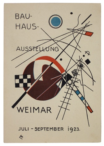 postkarte für die bauhaus ausstellung by wassily kandinsky