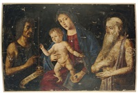 the madonna and child with saint john the baptist and saint jerome by giovanni di niccolò mansueti
