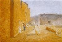 rue animée à sidi-okba by ernst baillet