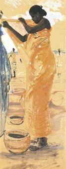 femme au sari by habib kibari