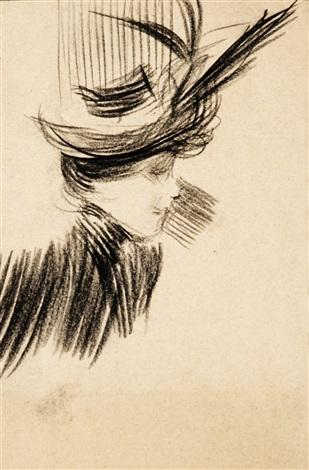 donna con cappello by giovanni boldini