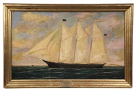 ship's portrait of the three-mast schooner