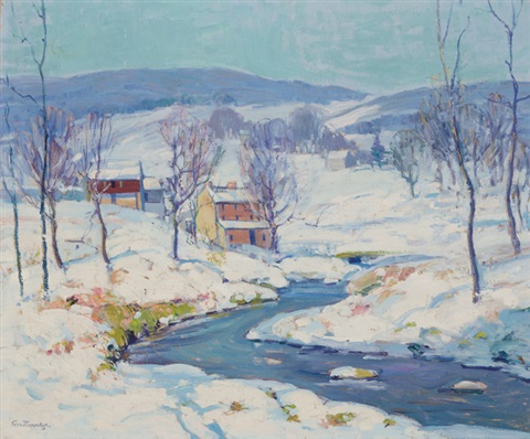landscape in winter by fern isabel coppedge