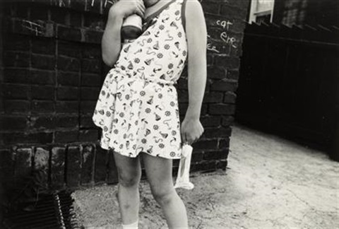 girl with popsicle, wilkes-barre, pa by mark cohen