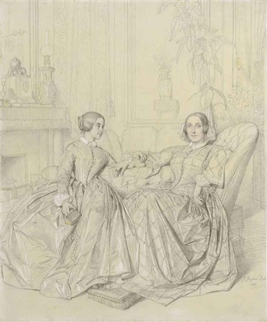 comtesse charles dagoult née marie dagoult and her daughter claire dagoult by jean auguste dominique ingres