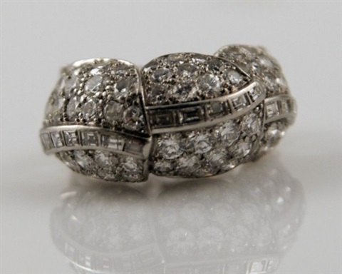 cartier platinum and diamond cocktail ring