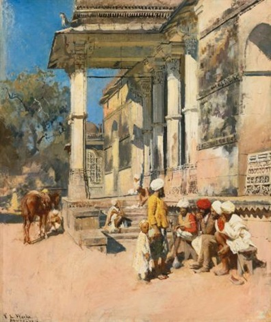 portico of a mosque ahmedabad by edwin lord weeks
