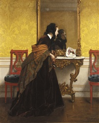le bouquet by alfred stevens