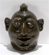 cock-eyed face jug by lanier meaders