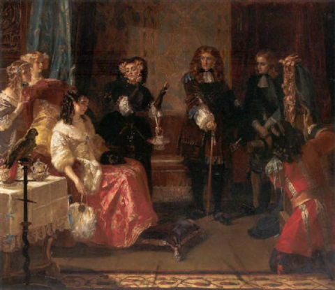 grinling gibbons first introduction to the royal court by edward matthew ward