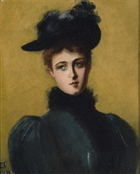 portrait of a lady by james carroll beckwith
