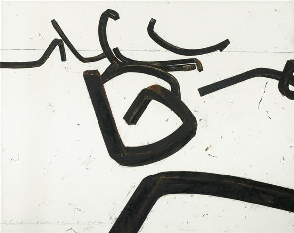 random combination of indeterminate lines by bernar venet