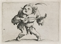 varie figure gobbi (set of 21) by jacques callot
