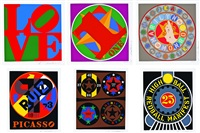 the american dream portfolio (portfolio of 6) by robert indiana