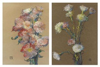 flowers (+ another; 2 works) by leon dabo