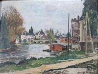 bord de rivière by marcel françois leprin