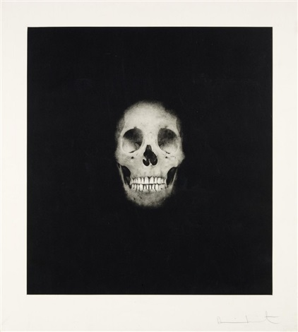 skull ii from i once was what you are you will be what i am by damien hirst