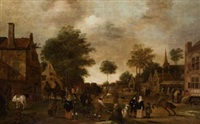 escena de aldea by pieter symonsz potter