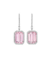 kunzite ear pendants (pair) by margherita burgener
