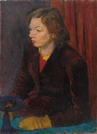 portrait elisabeth reed by giuseppe capogrossi