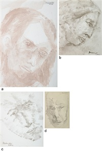 untitled (3 works) by akbar padamsee