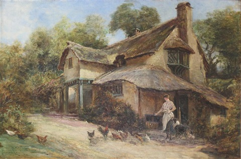 a devonshire cottage by heywood hardy