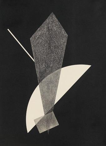"""konstruktion v, pl.5 (from vi. kestner-mappe: lászló moholy-nagy """"konstruktionen"""") by lászló moholy-nagy"""