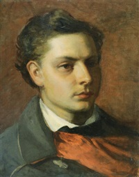 young man portrait by bertalan székely von adámos