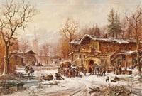 winter im dorf by janez kenzer