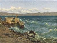 vue de la mer (caspienne?) by julius friedrich ludwig runge