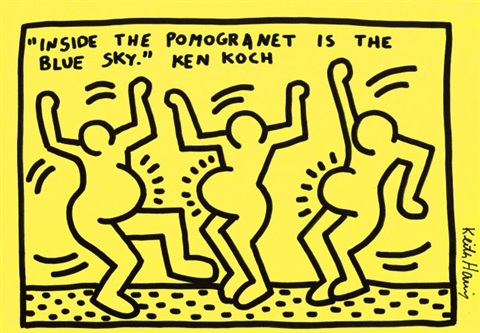 3 DANCING PREGNANT WOMEN by Keith Haring on artnet