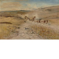 the wagon trail by harvey otis young