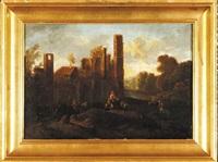scena rodzajowa na tle ruin by pieter anthonisz van groenewegen