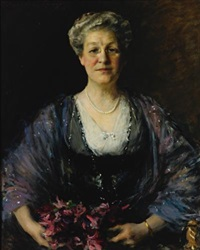 portrait of matilda herbert lloyd by william merritt chase