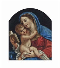 the madonna and child by francesco albani