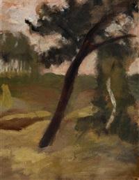 zwei bäume am weg by paula modersohn-becker