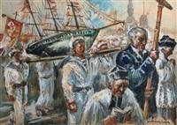 pointe du raz - pardon de n.d. des naufragés by paul henry lafon